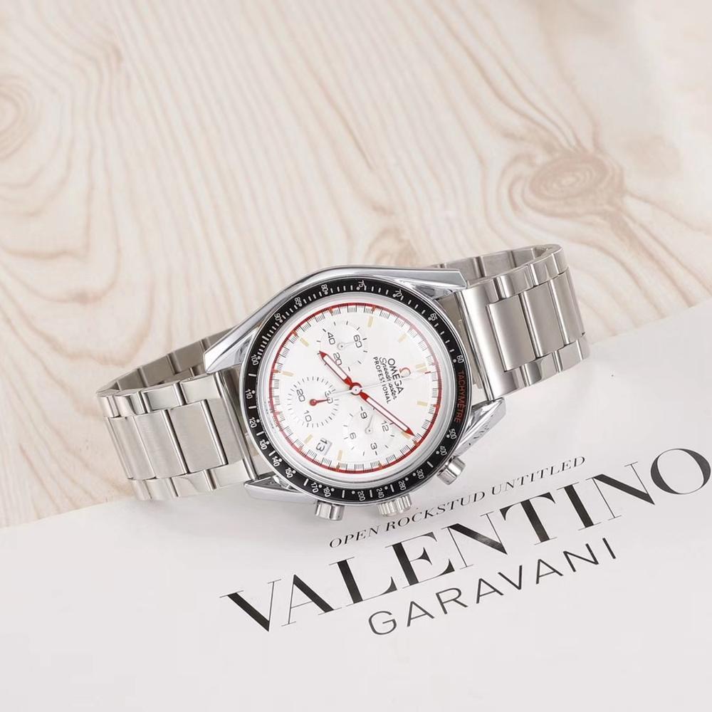 Omega- Luxury Brand quartz men zegarki kwarcowe zegarek ze stali nierdzewnej stalowy pasek zegarek klasyczny zegarek damski 04