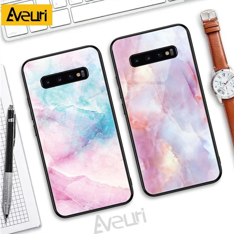 Роскошный чехол для телефона с мраморным стеклом для Samsung Galaxy M10 M20 M30 M30S A7 A5 2017 A520 J4 J6 A6 A8 Plus A7 A9 2018