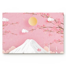 Tapis de bain de printemps antidérapant   Coupe-soleil en papier fleur de pêcher de montagne, paillasson de porte, accessoires de salle de bain