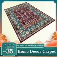 madream persian ethnic style room rugs geometric stitching blue purple floral living room carpet non slip bedroom bedside mat