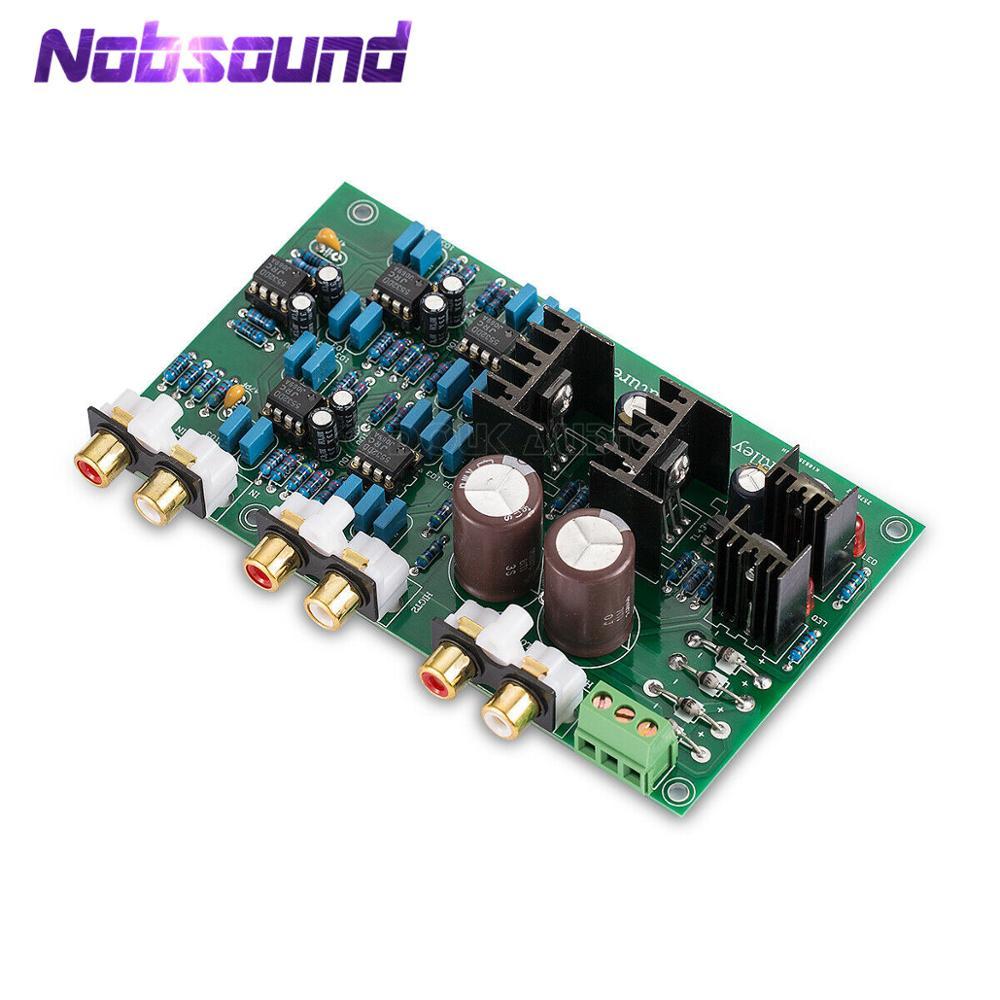 Nobsound linkwitz-riley 2-way divisor de freqüência estéreo preamp placa agudos graves crossover