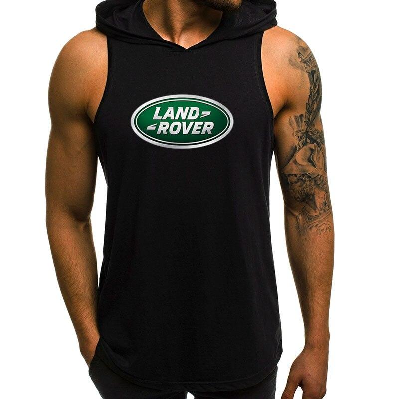 Новинка 2021, мужские толстовки Land Rover, свитшоты с коротким рукавом, Мужская модная распродажа, свитшот, Повседневная однотонная мужская толст...