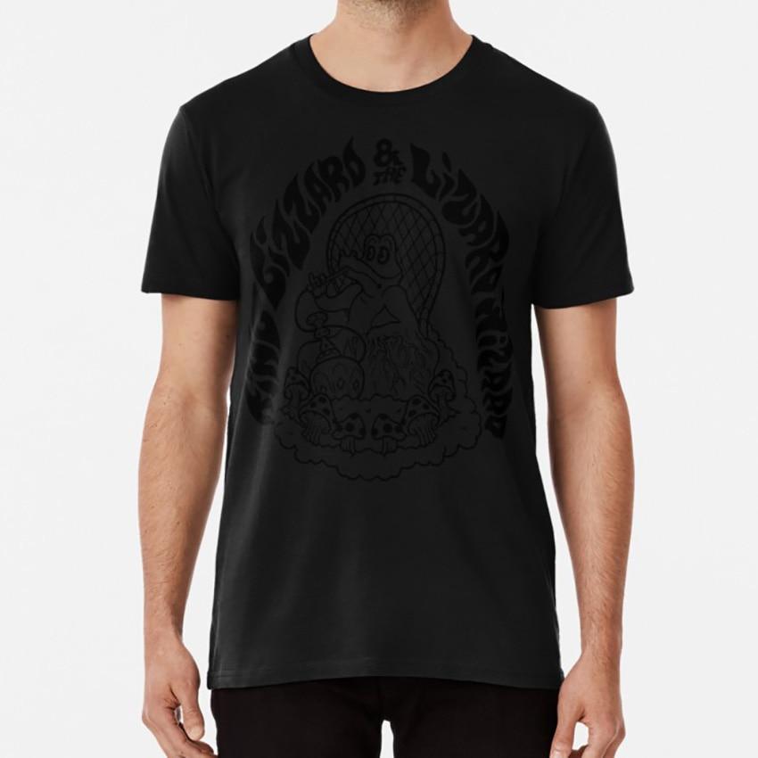 King Gizzard Smoked Out White T shirt king gizzard gizzfest nonagon infinity australia psychedelia gator