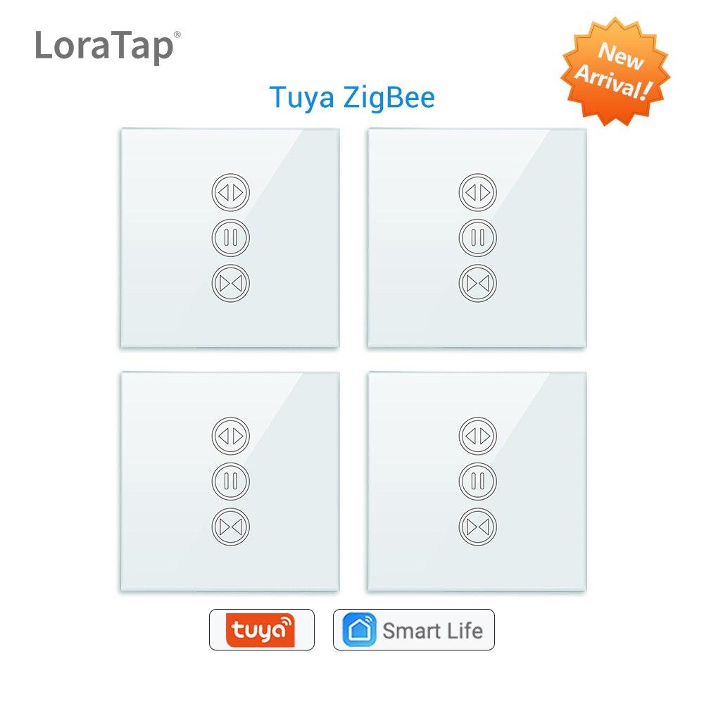 Tuya Smart Life ZigBee 3,0, interruptor de persiana para cortina, motor eléctrico con persiana enrollable, Google Home, Alexa Echo, Control por voz DIY
