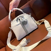 soft split leather top handle bags new tassel womens handbag tote shoulder crossbody sac femme white messenger bolso mujer