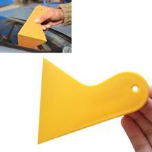 Small Scraper Car Foil Tool Yellow Triangle Small Scraper Mobile Phone Film Multi-purpose Film Tool Car Windshield Snow Shovel