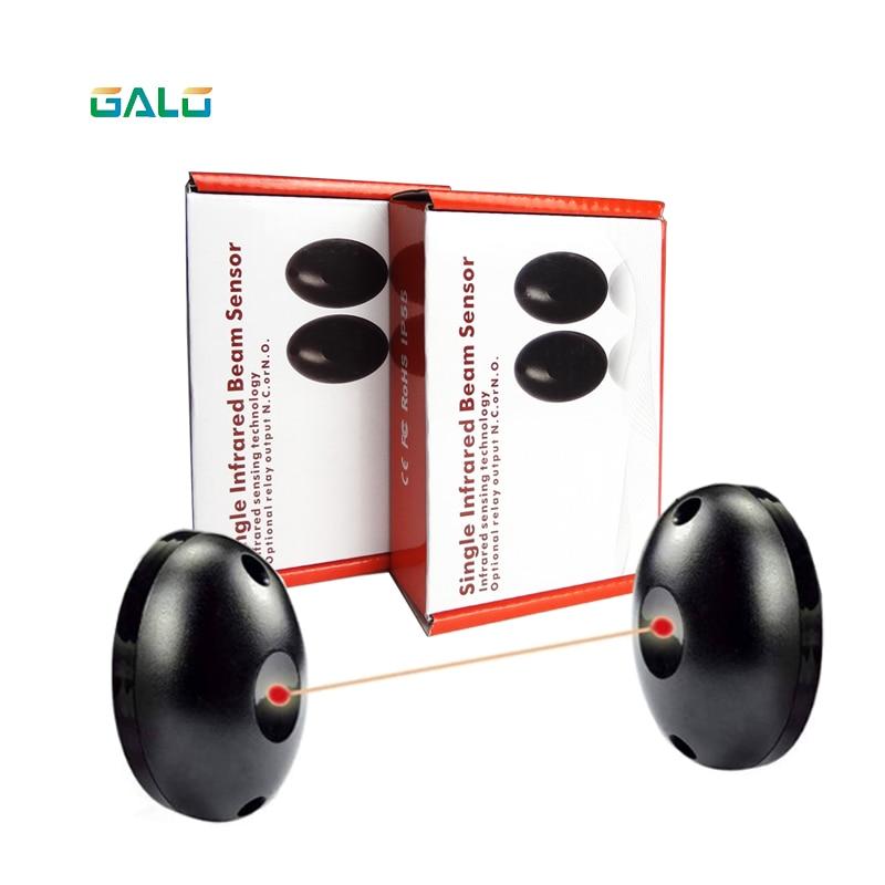 Multiuso ao ar livre de segurança em casa fotocélula infravermelha ativa único sensor de feixe não/nc interruptor ajustável