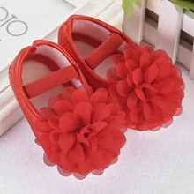 Cute Newborn Baby Girls Shoes Flower Princess Crib Shoes Soft Sole Anti-slip Prewalker Shoes