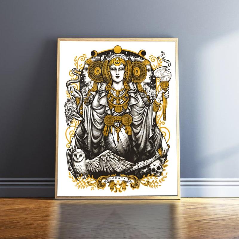 Hecate Lady of Elche-póster de lona Vintage para mujer, creador de muñecas...
