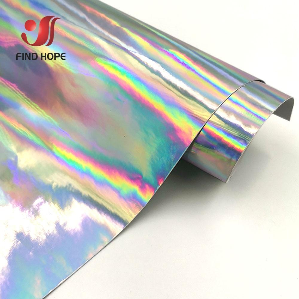 Vinilo autoadhesivo holográfico, iridiscente película plateada, corte artesanal de Peel y Stick, copa de vinilo/pared/vidrio impermeable, logotipo letras