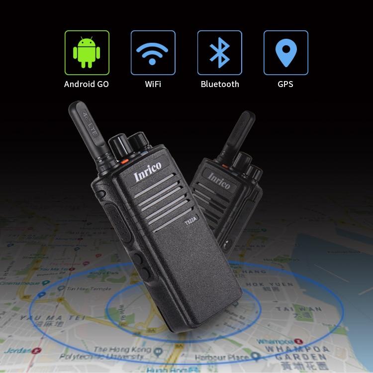 Inrico T522A Cheapest walkie talkie app 4G network talk radio GPS Bluetooth Rugged telephone portable radio 50km 100 km