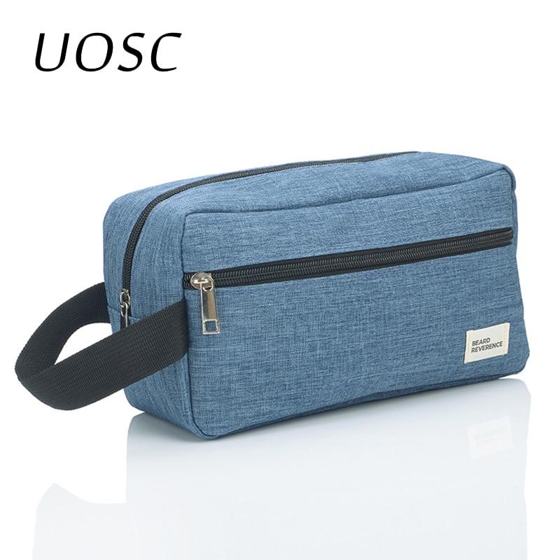 UOSC Cosmetic Bag For Men Organizers Women Travel Necessaire Waterproof Ladies Makeup Bag Men Beauty Case Pack Up The Wash Bags