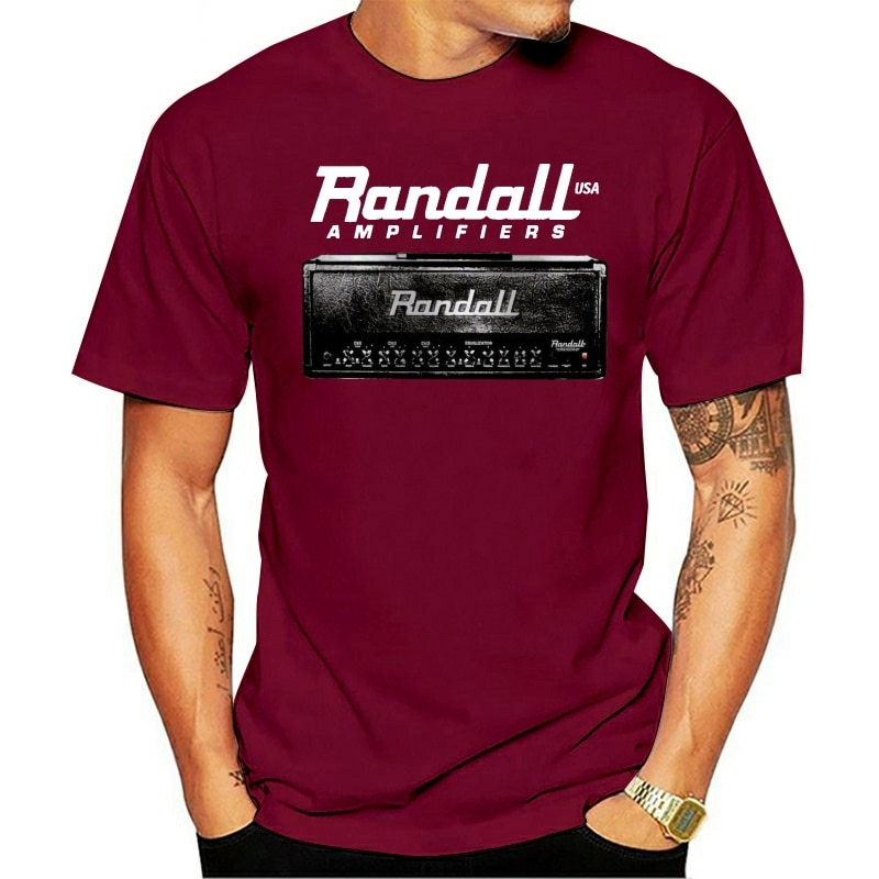 2021 de moda de ocio 100% de algodón o-Cuello camiseta Randall amplificador...