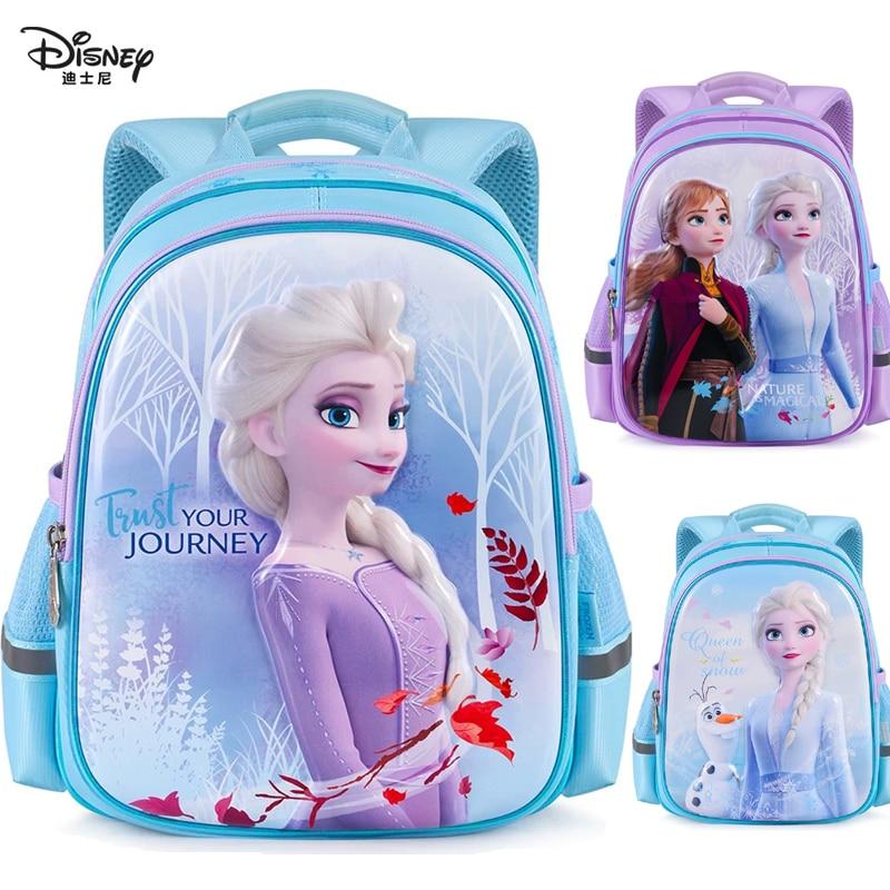 Bolsa original de Disney Frozen2 de 30CM, bonita Bolsa Escolar, bolsas de Snow Queen, elsa, anna, olaf, para niños de 3 a 6 años, mochila de muñecos de juguete, regalo