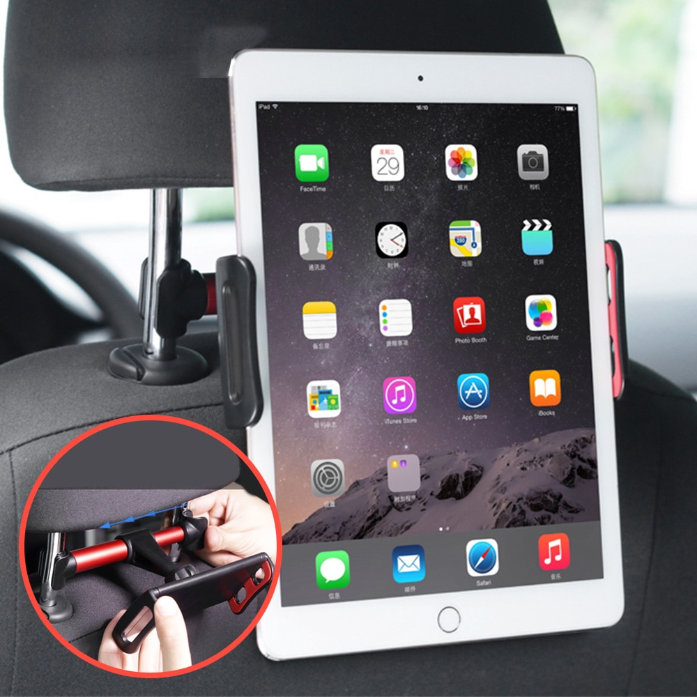 Suporte automotivo para celular e tablet, suporte universal para parte traseira de carro para celulares, relógio para crianças, tablet, ipad suporte de montagem
