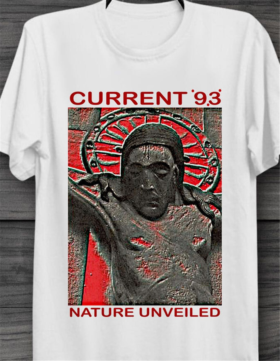 Camiseta retro con estampado de naturaleza, Versión actual 93, música fresca, Unisex, B341