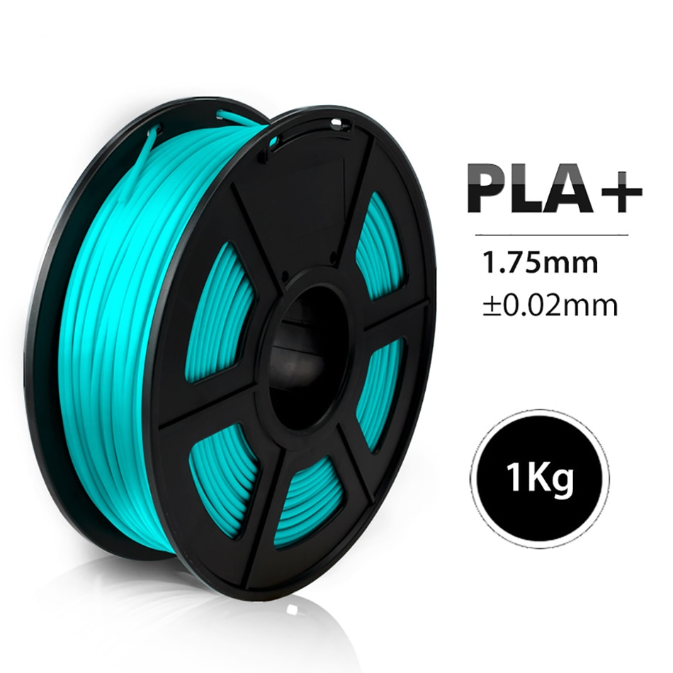 Filamento PLA Plus de 1kg, Color Cian, 1,75mm, buena dureza, Material para...