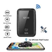 gf 09 mini gps tracker app remote control anti theft device gsm gprs locator magnetic voice recording pickup anti lost tracking