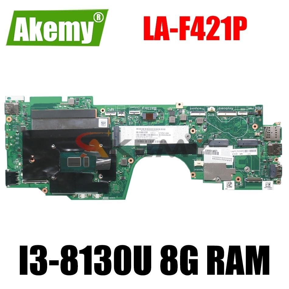 LA-F421P لينوفو ثينك باد اليوغا X380 اللوحة الأم للكمبيوتر المحمول مع I3-8130U 8G RAM DTZS1 LA-F421P اللوحة الأم 100% اختبارها بالكامل