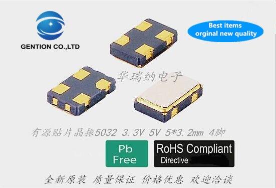 10 шт. 100% новый и оригинальный 5x3.2мм 5032 активный кристаллический осциллятор 6 м 6 МГц 6,000 МГц OSC 4 фута оригинальная цена отличный импорт