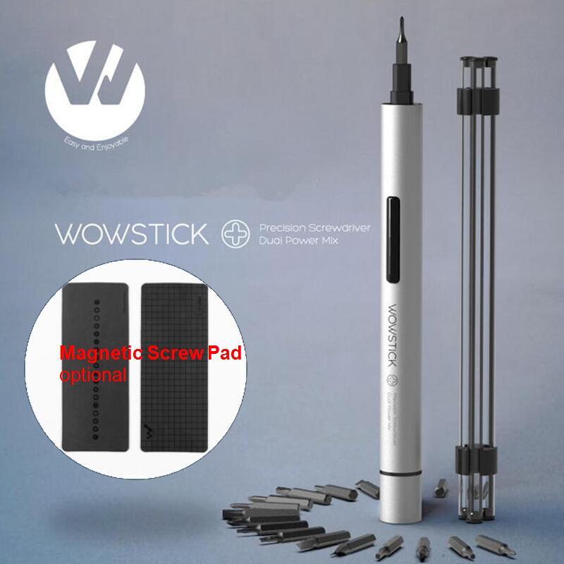 Wowstick 1p + Try طقم مفك براغي كهربائي 20 بت S2 الألومنيوم الجسم اللاسلكي لمجموعة عدد وأدوات دفتر الهاتف منتصف إصلاح