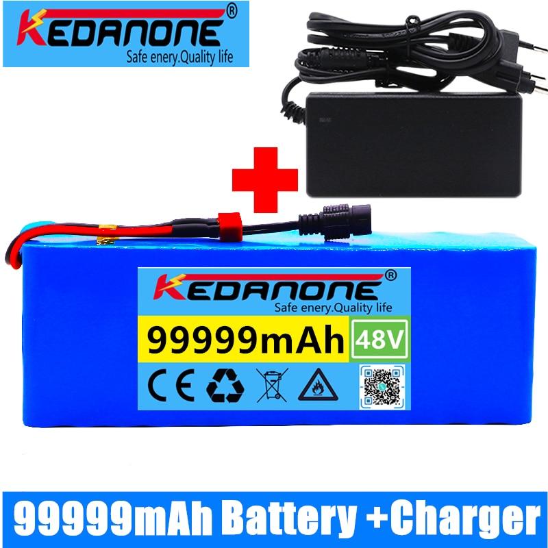 48 فولت بطارية أيون الليثيوم 48 فولت 99Ah 1000 واط 13S3P بطارية أيون الليثيوم حزمة ل 54.6 فولت E-دراجة هوائية كهربائية سكوتر مع BMS + شاحن