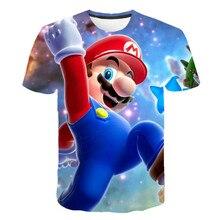 T-shirt Super Mary 3D pour garçons, vêtements dété à la mode pour garçons, T-shirt de jeu, vêtements pour garçons et filles, dessin animé à manches courtes sh