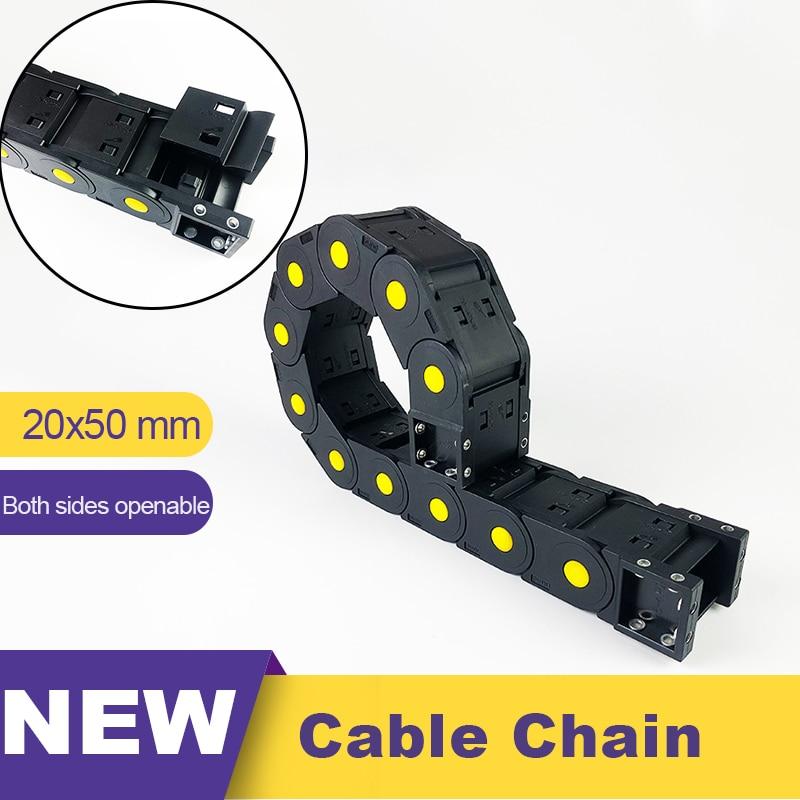 20x50 Cable de cadena de arrastre Cable de remolque de Nylon 20 portador de alambre para grabado accesorio de la máquina 20*50