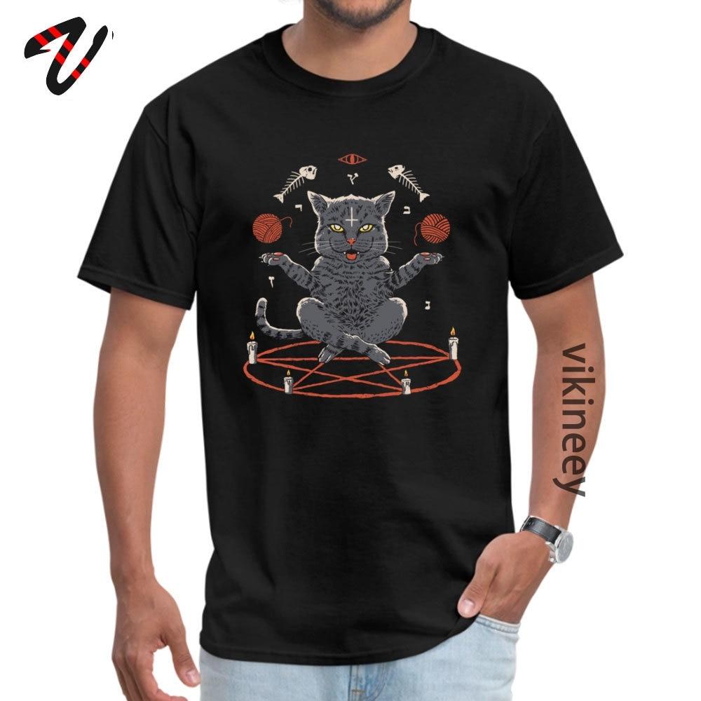 Новая футболка для мужчин, с рисунком кошки, из хлопка, высокое качество, для фитнеса, новый дизайн, Shamanism, Devious Cat