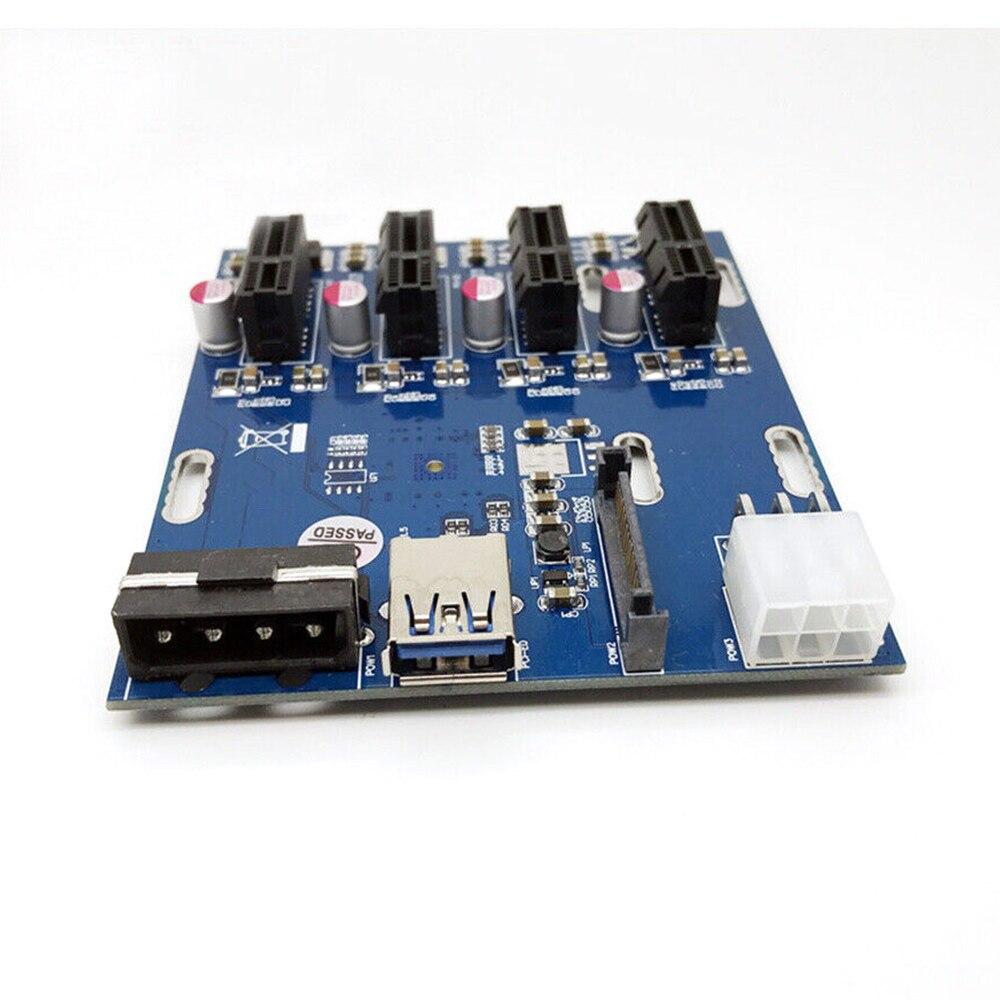 PCI-E 1 إلى 4 فتحات PCI Express 1X بطاقة الناهض ITX صغيرة إلى محول فتحة 4 PCI-e الخارجية PCIe منفذ مضاعف بطاقة الجزء