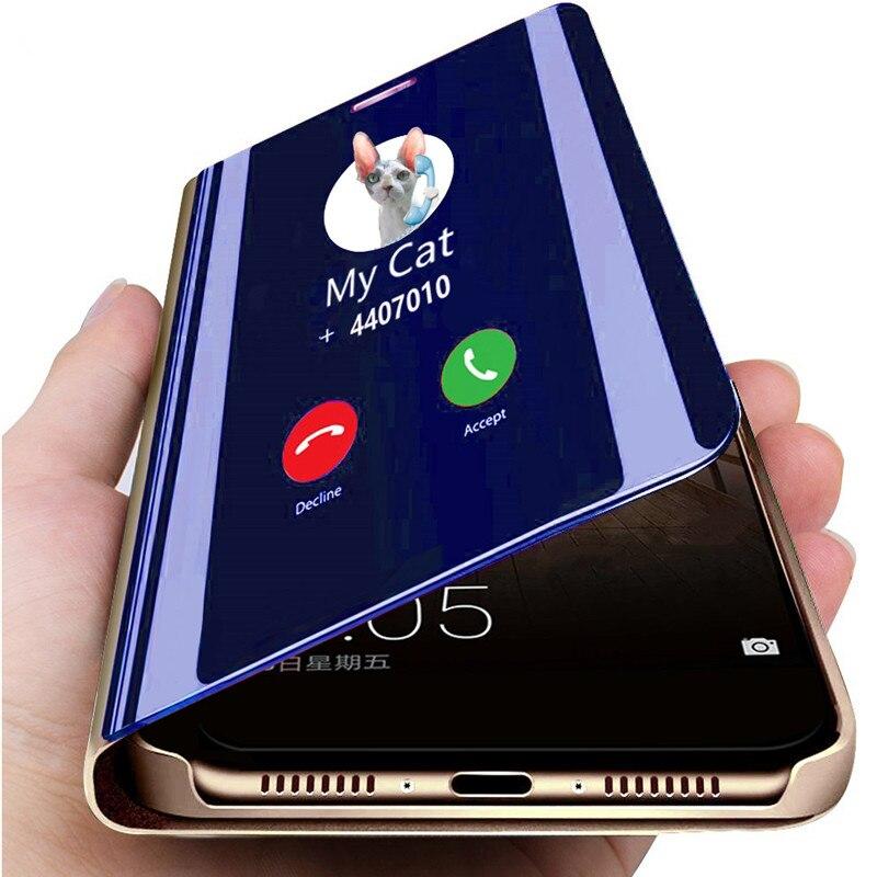 Miroir intelligent Étui À Rabat Pour Samsung S20 10 S9 S8 Plus S7Edge étui de téléphone pour samsung Note 10 9 8 A90 A80 A70 A40 M10 A20 A30 couverture