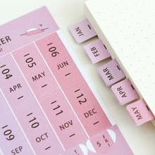 8Sheets/Set DIY Creative Office Novelty Sticky Notes Planner Stickers Page Index Sticker Color Random