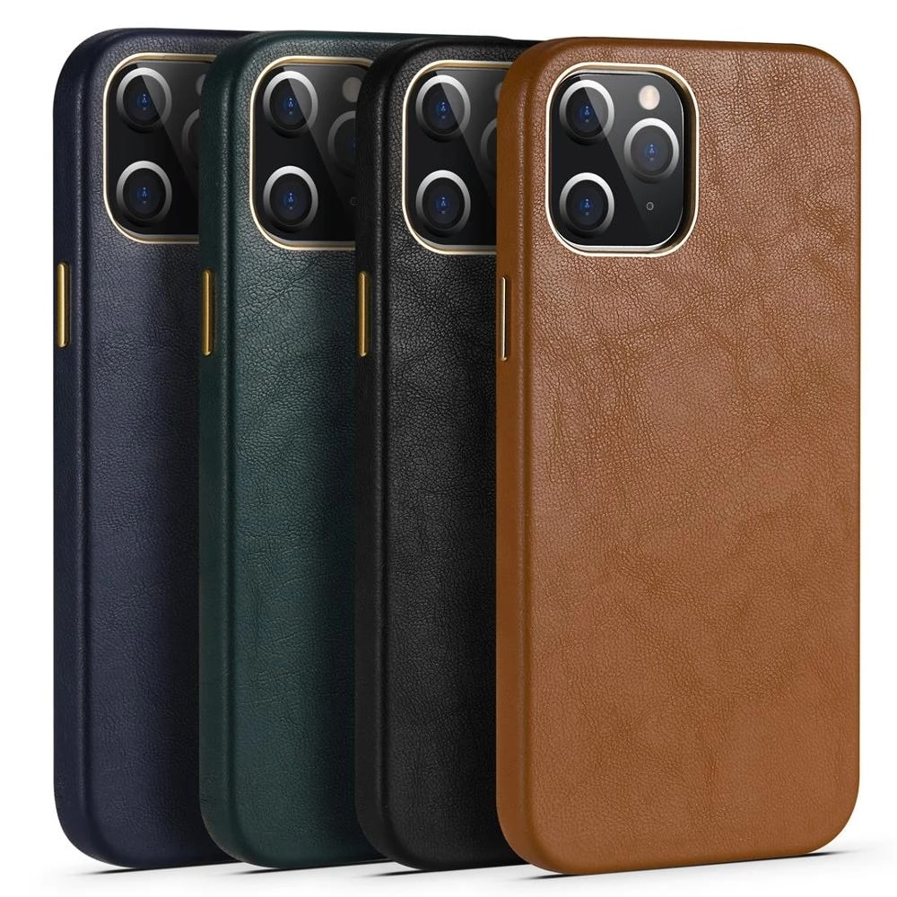 Luxury Leather Phone Case For iPhone 12 11 PRO MAX XSMAX XR XS X 8 7 Plus 12MINI SE2020 12PRO Ultra-Thin Soft Touch Back Cover