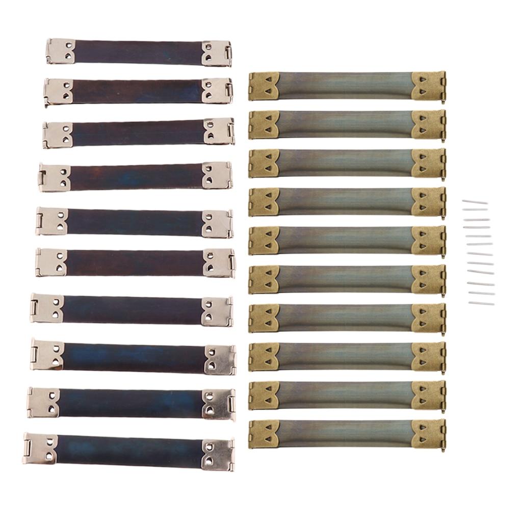 Paquete de 20 monedero o estuche de gafas marco flexible Clip interno flexible de resorte de 10cm