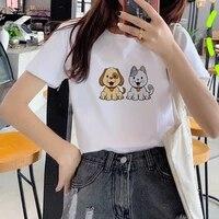 short sleeve tshirt 2021 new summer t shirt fashion t shirt 90s girls harajuku tshirt cute dog printed tshirt o neck tshirt