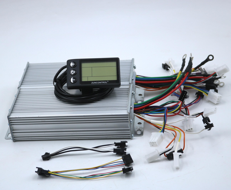 المزدوج محرك 48V/60V 1500W BLDC الكهربائية سكوتر تحكم E-الدراجة 2 قطعة فرش سرعة سائق و 1 قطعة S866 عرض مجموعة واحدة