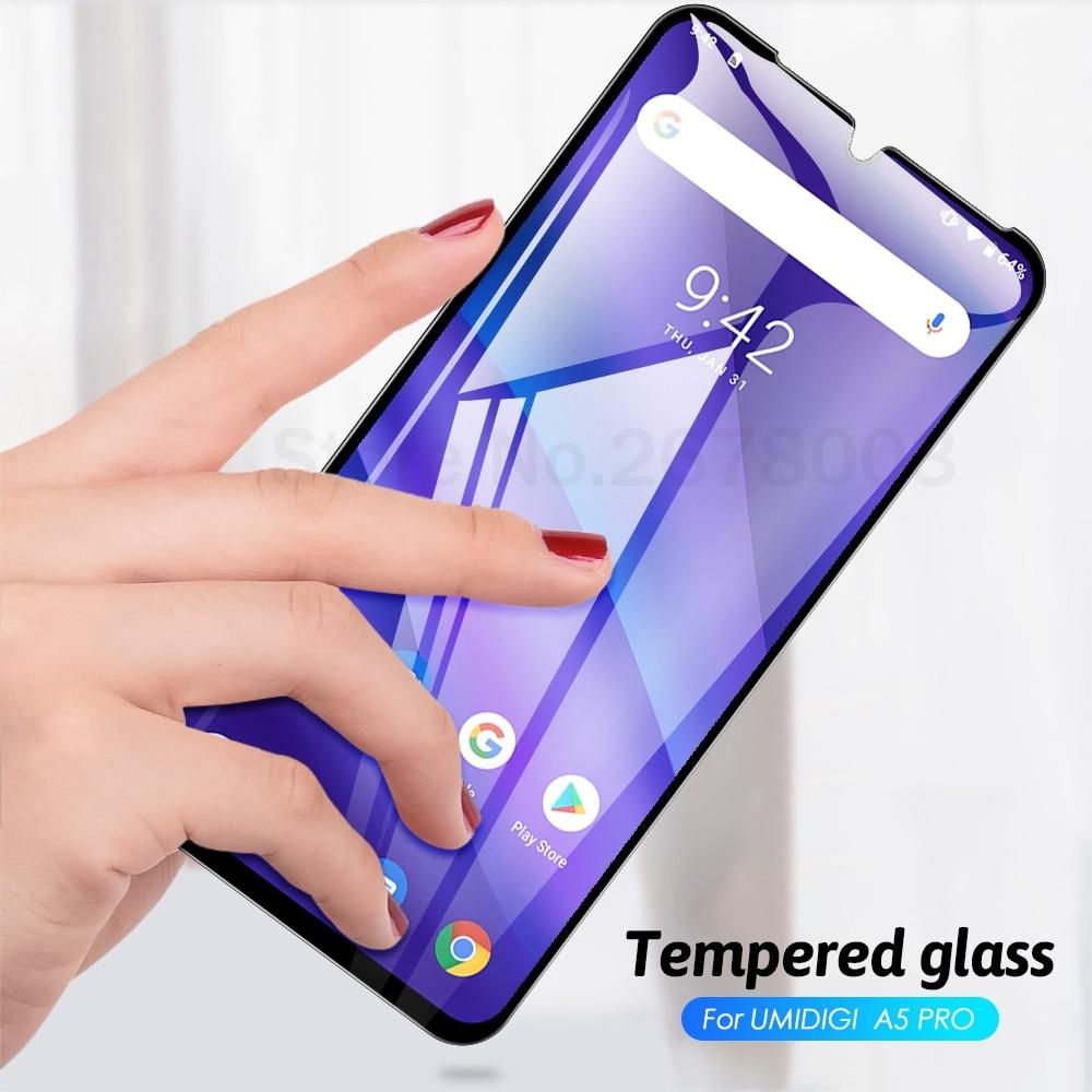 "Full Glue Cover Termpered Glass For UMIDIGI A5 Pro Screen Protector Cover Case Film Capa For UMIDIGI A5 Pro 6.3"" A5 Pro 2019 A5"