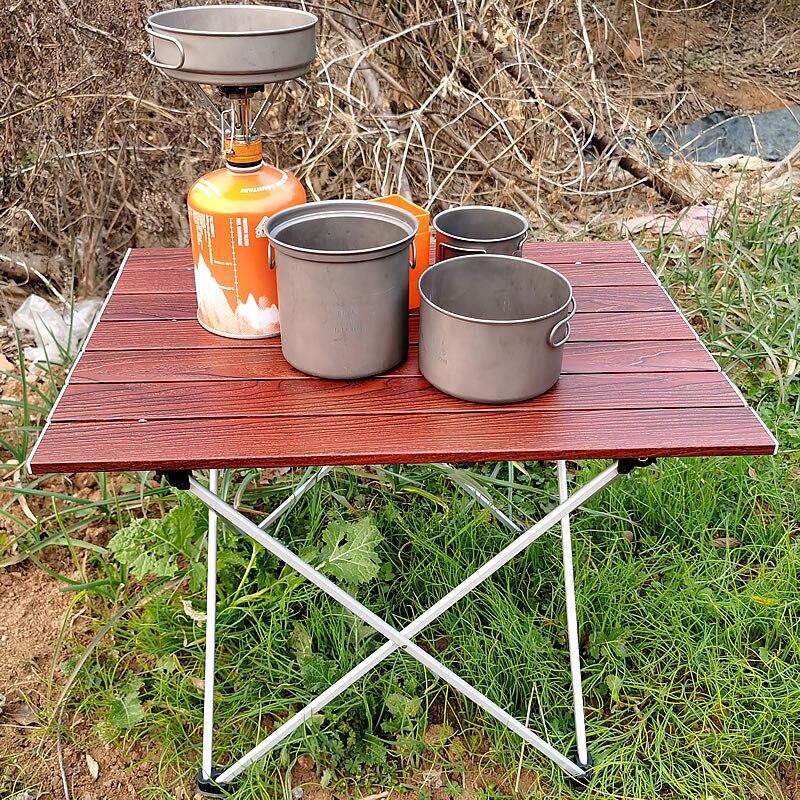 Plegable pequeña mesa de Camping portátil playa mesa plegable para Picnic en...