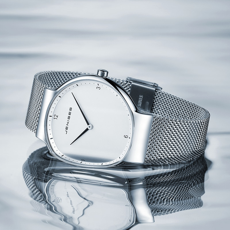 2021 Summer New Fashion  Couple Watches Automatic Quartz Watch Mesh Belt Simple Waterproof Men's and Women's Watches WA19