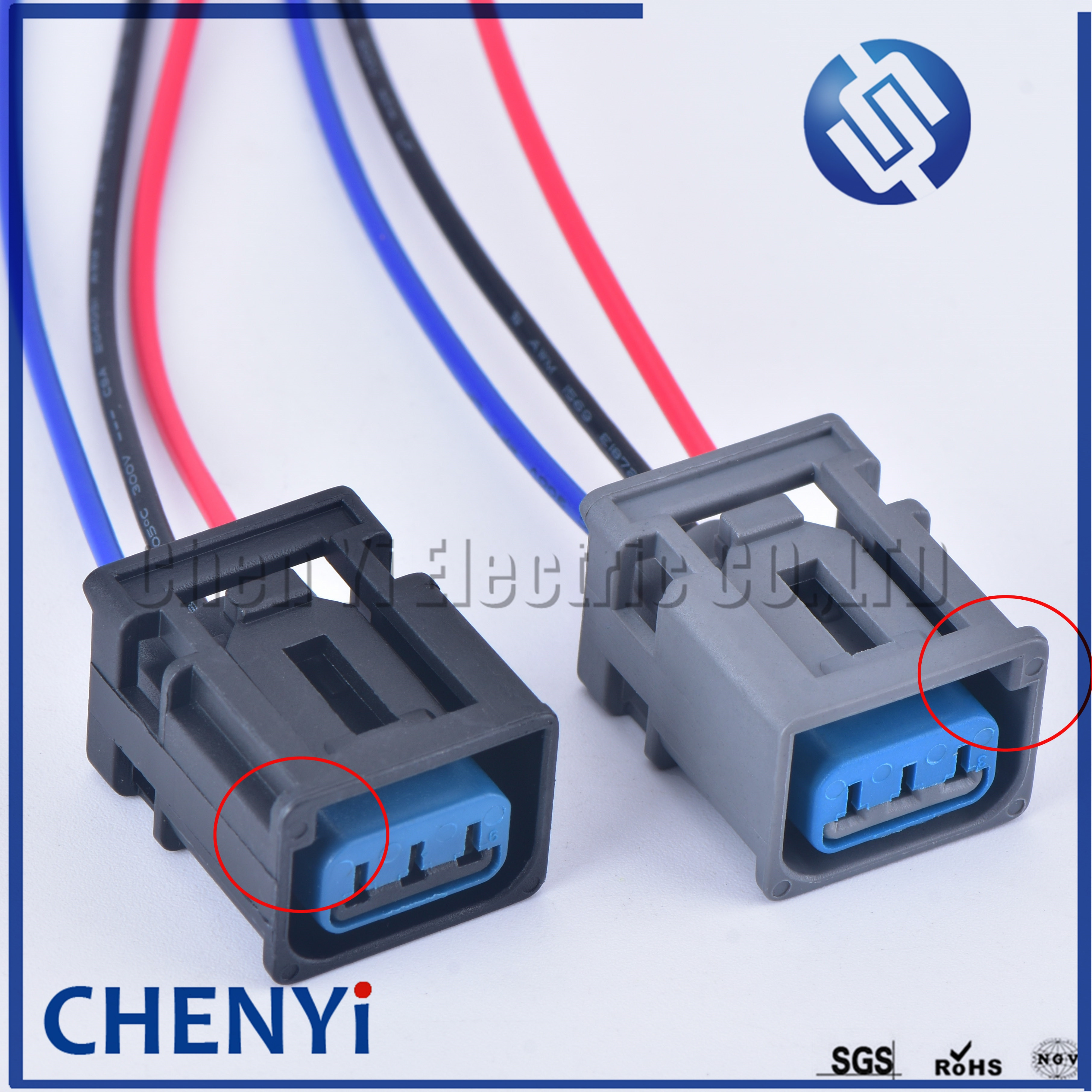 1kits lot 7pin 1930 0958 high voltage ignition coil plug connector for gm opel astra j chevrolet mai rui bao ke luzi buick 3 Pin 2.2mm Ignition Coil High Voltage Connector Plug For Ford Focus COIL Honda 1W7T-14A464-MA left and right groove with wire