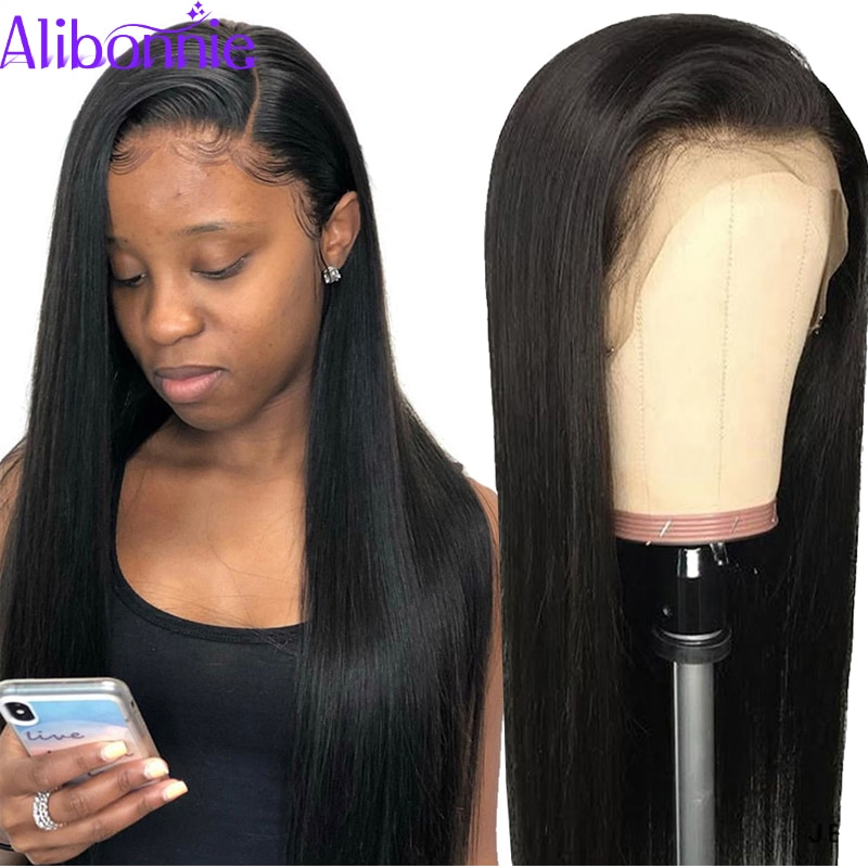 Wholesales 5pcs/Lot 13X4 Straight Lace Front Wig Pre Plucked 150% Density Soft Virgin Human Hair Wigs for Black Women in Bulk