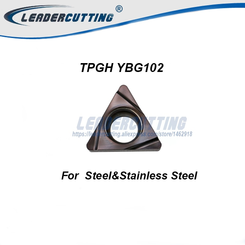 TBGH060102L TBGH060104L TPGH090202L TPGH090204L TPGH110304 YBG102 * 10 Uds ZCC insertos de torneado, cuchilla de corte, punta giratoria de acero