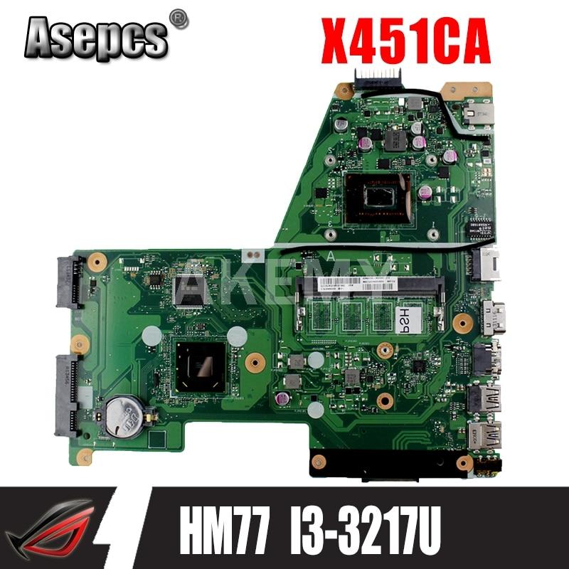 Akemy اللوحة لابتوب For Asus X451CA F451 F451C X451CA اللوحة REV.2.1 HM77 SR0N9 I3-3217U GMA HD 3000