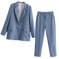 womens sets womens new product pure color ladies suit jacket ol professional suit outfits for women
