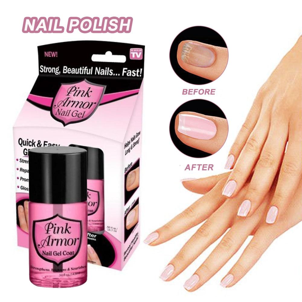 1 Uds., esmalte de uñas en Gel Rosa Armour, protección de capa, Gel de queratina