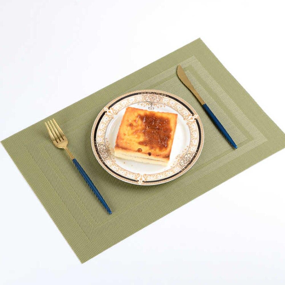 6 PCS Anti-skid E Calor-isolamento Esteira de Tabela Placemat PVC Para Mesa De Jantar Não-deslizamento Cozinha acessórios