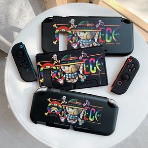 One Piece Anime Pirates Skull Heads LOGO Super Cool Gamepad Switch Protective Case For Nintendo Switch And Lite Cover