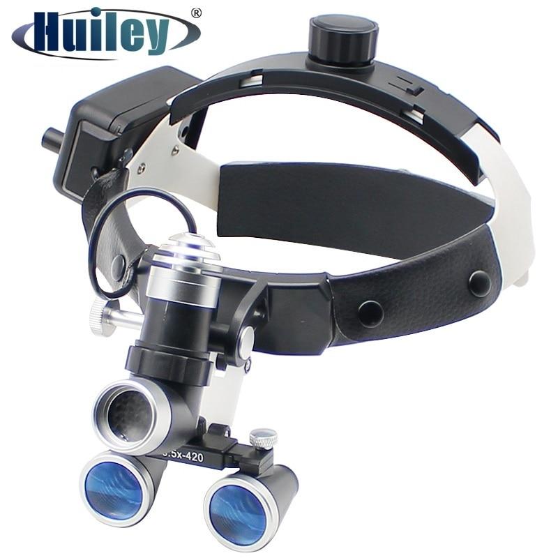 80000 لوكس كشافات قوية مع مجهر المكبر 2.5X/3.5X خوذة الأسنان العدسة مع المصباح 3 واط سطوع عالية