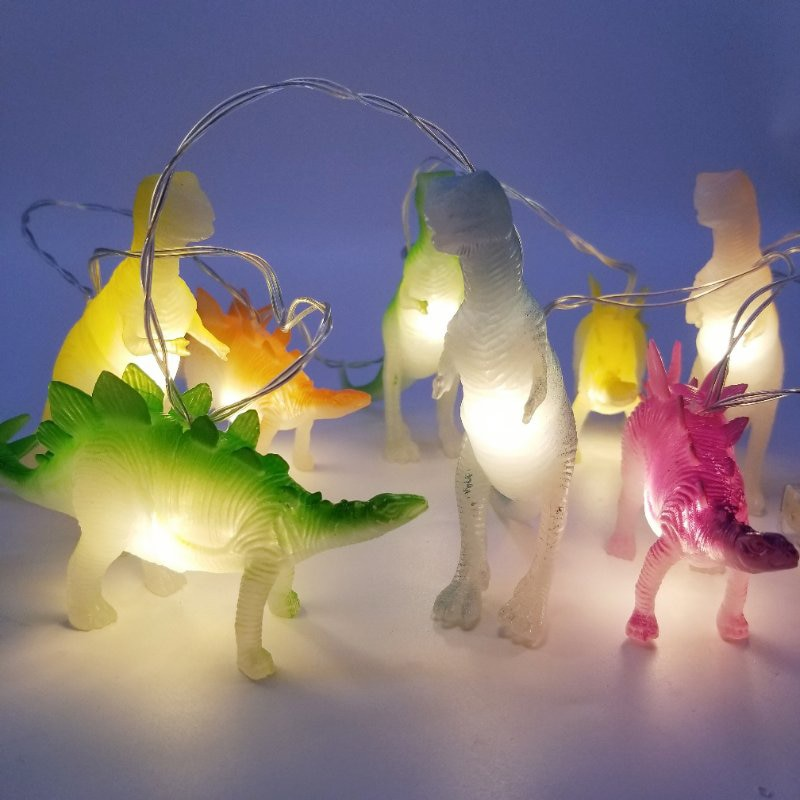 dino luzes de brinquedo com dinossauros brilhantes brinquedo de plastico com 8leds