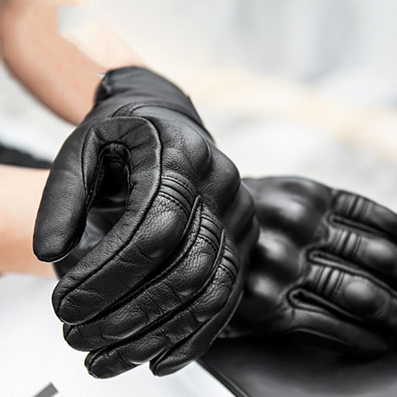 MOTOWOLF Sheepskin Motorcycle Gloves Leather Vintage Riding Moto Protective Biker Male Motorbike Glove Motor Sports Bike Gloves enlarge